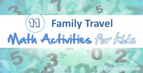 kid math activities for family vacation and holiday travel