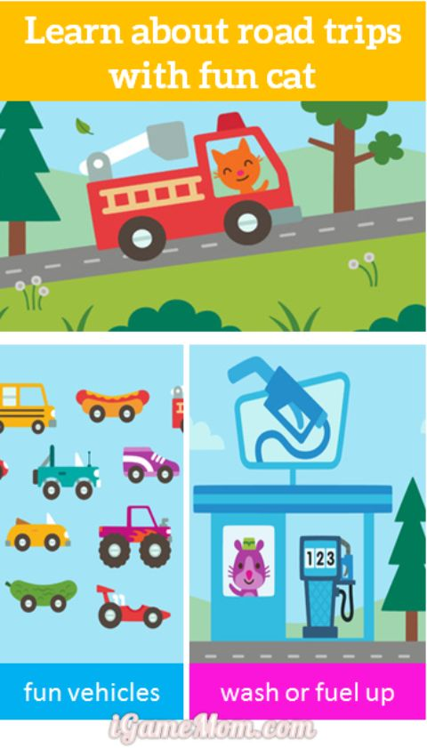 learn about road trip with Sago Mini for toddler and preschooler