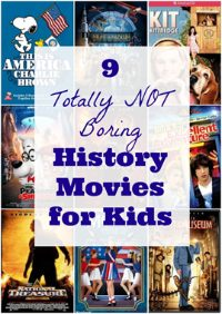 not boring history movies for kids