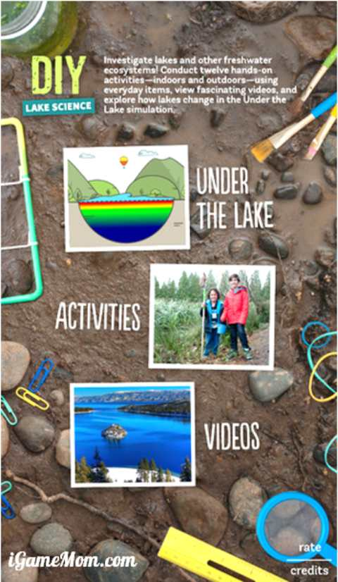 DIY Lake Science for Kids - A free STEM app for kids