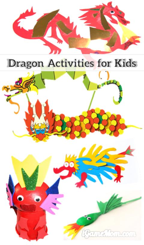 More than 30 dragon themed learning activities for kids of all ages: crafts, coloring pages, printable worksheets, games, … math, letters, spelling, science, … for activities to go with the movie How to Train My Dragon, or a Chinese New Year celebration.