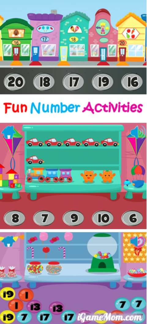 Fun number and counting activities for toddler preschooler kindergarten kids