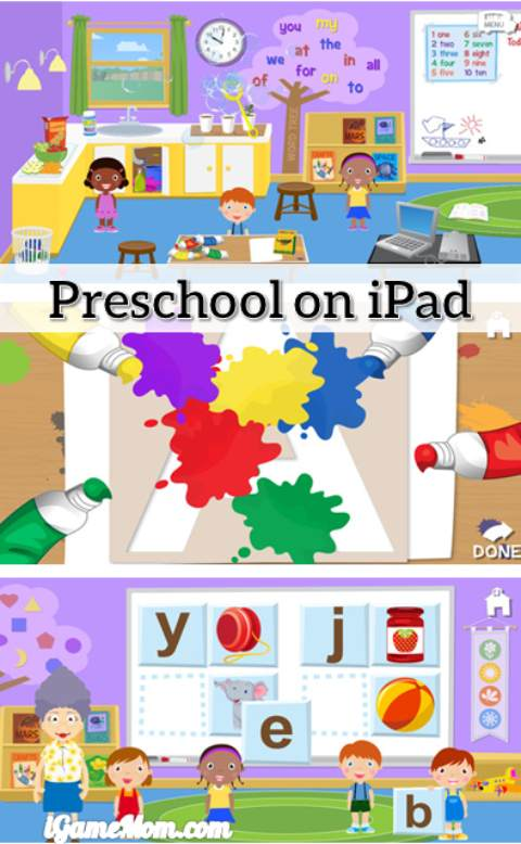 Grandma's Preschool app -- fun preschool learning and play on iPad iPhone