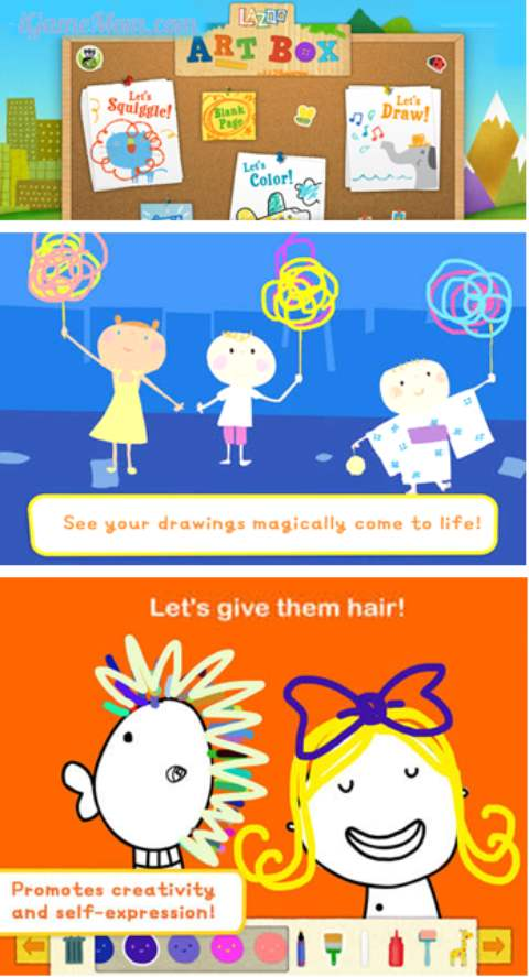Lazoo Art Box App from PBS Kids Encourage Creativity