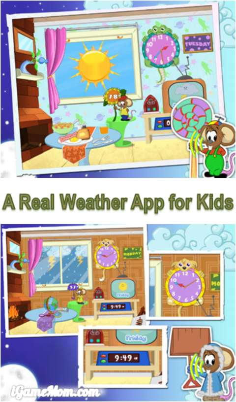 Real Weather App for Kids