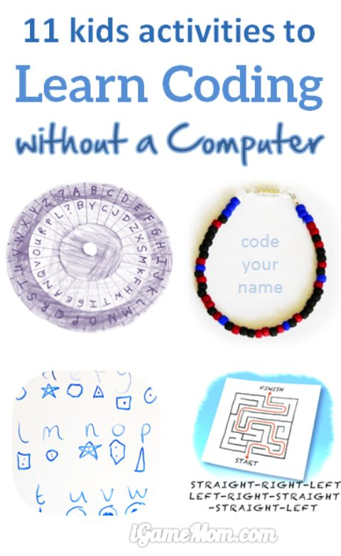11 Kids Activities to Learn Coding without a Computer