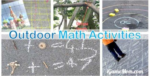 kids outdoor math activities