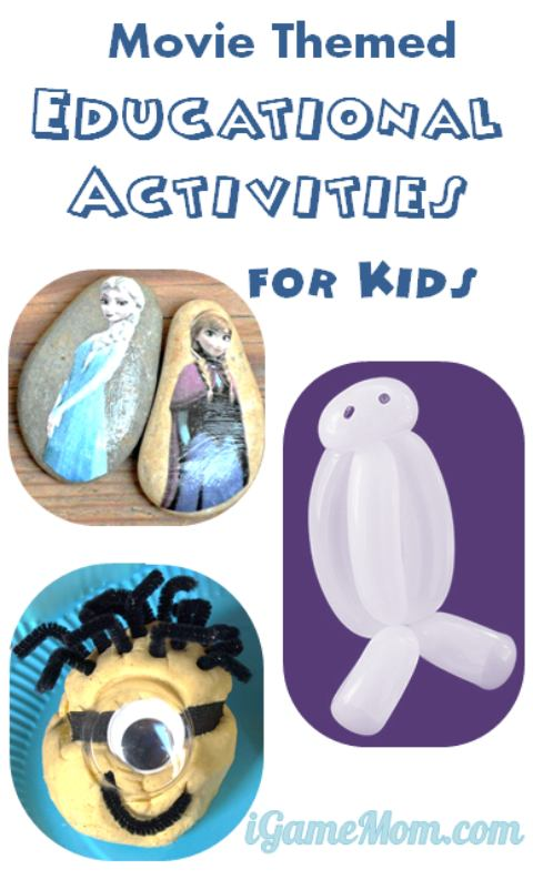 movie themed educational activities for kids