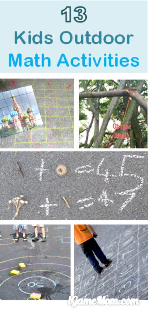 Outdoor math activities for kids from preschool to high school. Stop summer slide with fun STEM activities.
