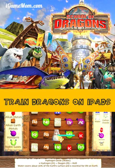 train dragons on your ipad - school of dragons app based on How to Train Your Dragon