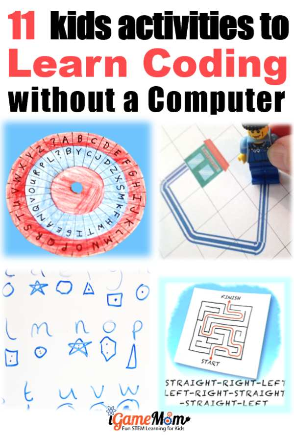 Can kids learn coding without a computer? 11 fun activities teaching basic coding concepts off-screen for beginners, boys and girls. No worksheet needed. Fun STEM idea for Hour of Code, Programming class