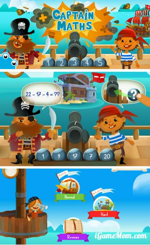 Captain Math App - pirate themed arithmetic game for children