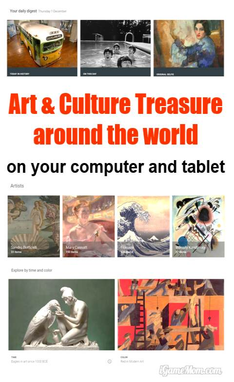 Thinking about field trips for kids? Google Art Project is a free website with digitized artworks from over 150 museums around the world. Users can search the art by artist names, years the art created, country, art type, … Many have 3D views. It is an amazing virtual art museum that you can visit online at anytime for free at the comfort of home.