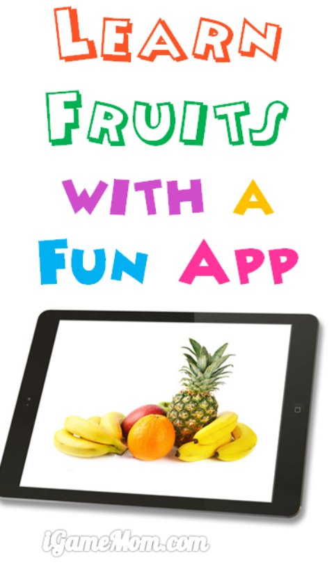 Learn fruits with a fun app for kids