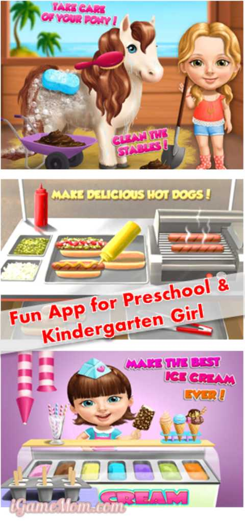 Sweet Baby Girl Summer Fun -- fun app for preschool kindergarten girls