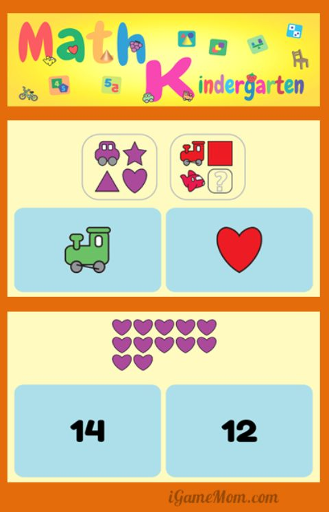 fun math app for kindergarden kids
