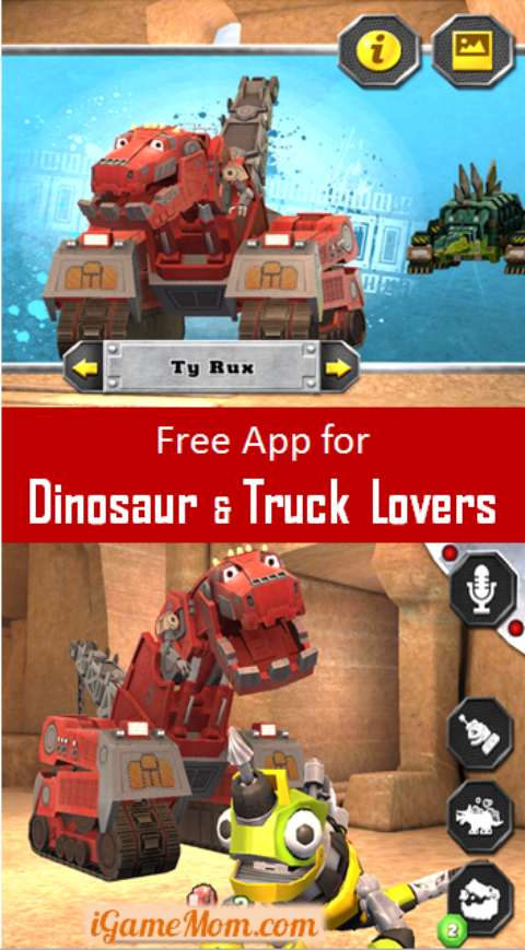 Dinotrux free app for dinosaur truck loving kids