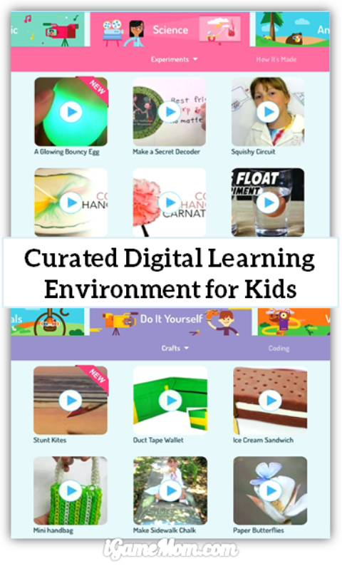 Free App WonderBox curated safe digital learning environment for kids