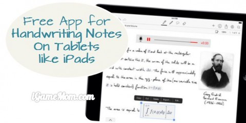 MyScript free app for handwriting notes on tablets such as iPads