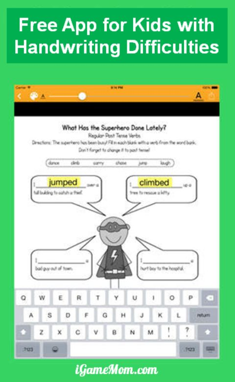 free app for kids with handwriting difficulties SnapType