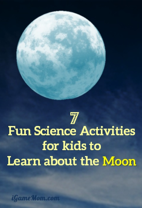 Fun science projects for kids to learn about the moon -- Do you know why we always see the same face of the moon? What are moon phases? How does moon rotate? Learn interesting STEM facts through fun activities for kids