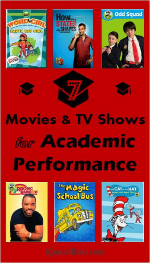 Will movies and TV shows help kids on their academic performance? Can you teach with movies? Try these 7 -- you will be delighted and kids will love them too. You can even build some into lesson plans.