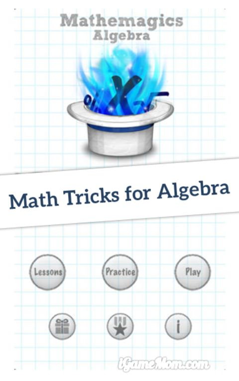 math tricks for algebra - mathemagics algebra app
