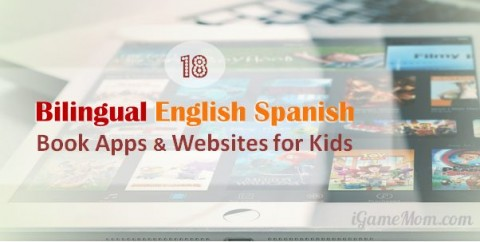 English Spanish book apps websites for kids