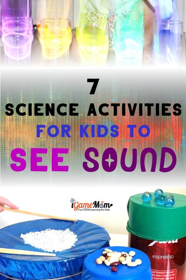Sound Science Experiments for Five Senses Science Class Kids love: STEM activities to SEE the sound and to feel the sound, to learn sound wave concept and science study skills. Science activities for school, home, and homeschool. Sense of hearing lesson of the five senses unit.
