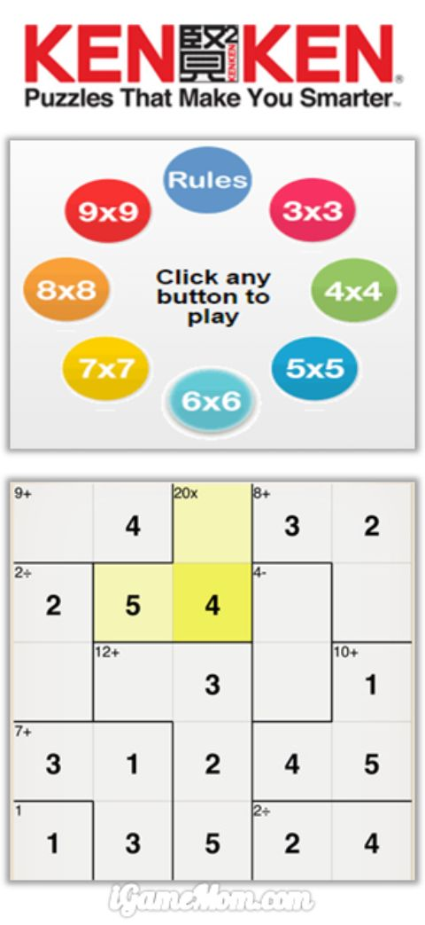 Kenken math games for logic skills concentration stamina