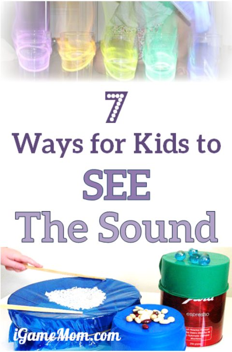 Fun science experiments for kids to SEE the sound. It is hard for kids to understand the concept that sound is wave, these activities make teaching easier. Kids can visually grasp the concept and learn science study skills | STEM | five senses unit
