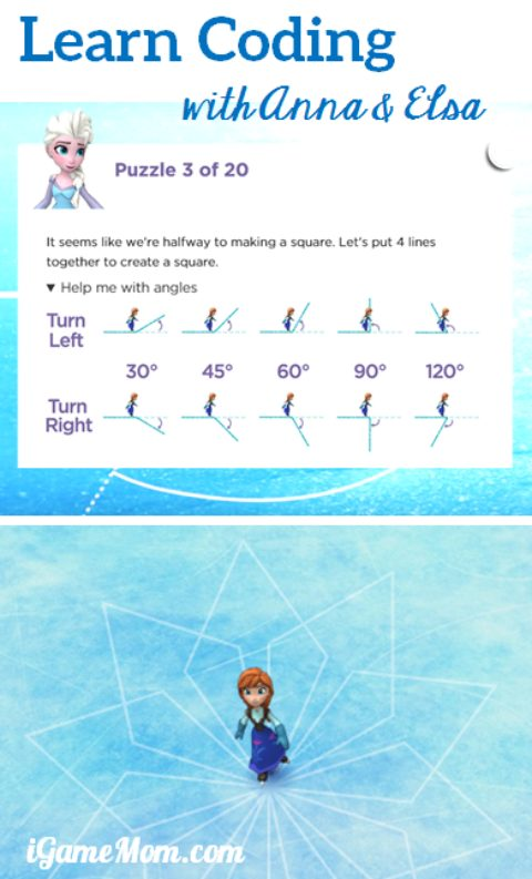 Learn coding with Frozen Anna Elsa free program