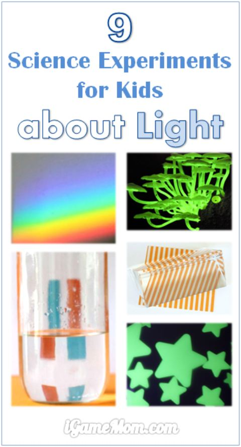 Light science experiments for kids: so much to learn about light and so many fun activity ideas! Great STEM activities for classroom, school science fair projects, after school at home activity, or homeschool teaching resource.