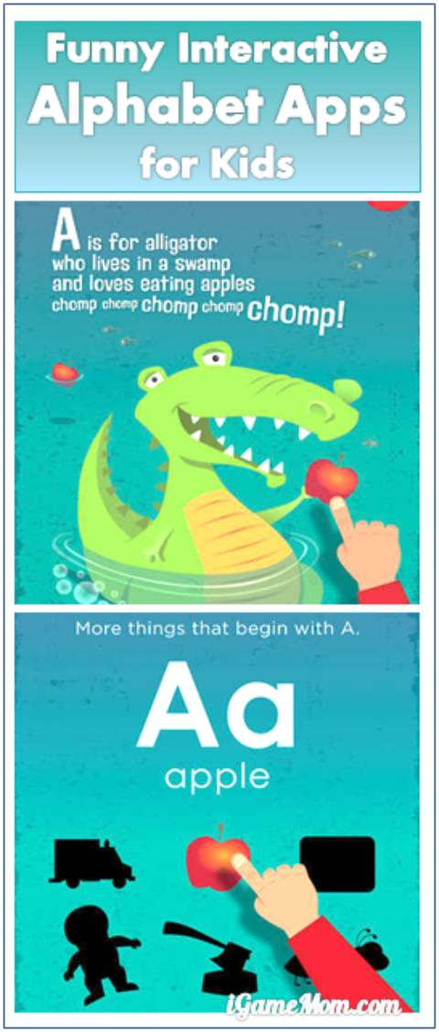 funny interactive alphabet app for kids to learn ABC