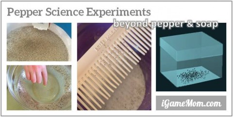 pepper and soap experiment and beyond