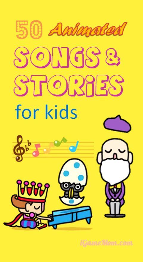 Animated songs and stories for kids - fun app preschool kids like