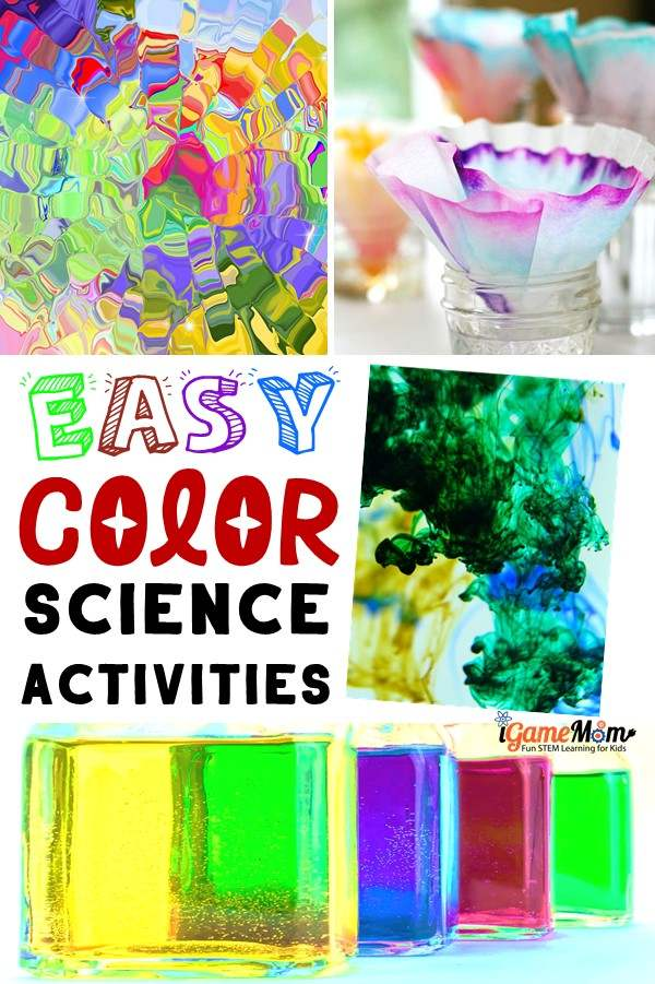 Science Experiments for Kids about Colors and Color Mixing