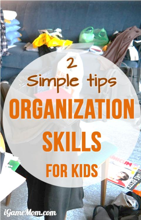 Kids forget homework for school? Have toys all over the room? These are 2 simple things parents can do to have kids organize school and home responsibilities themselves and stay organized - very practical and helpful parenting tips