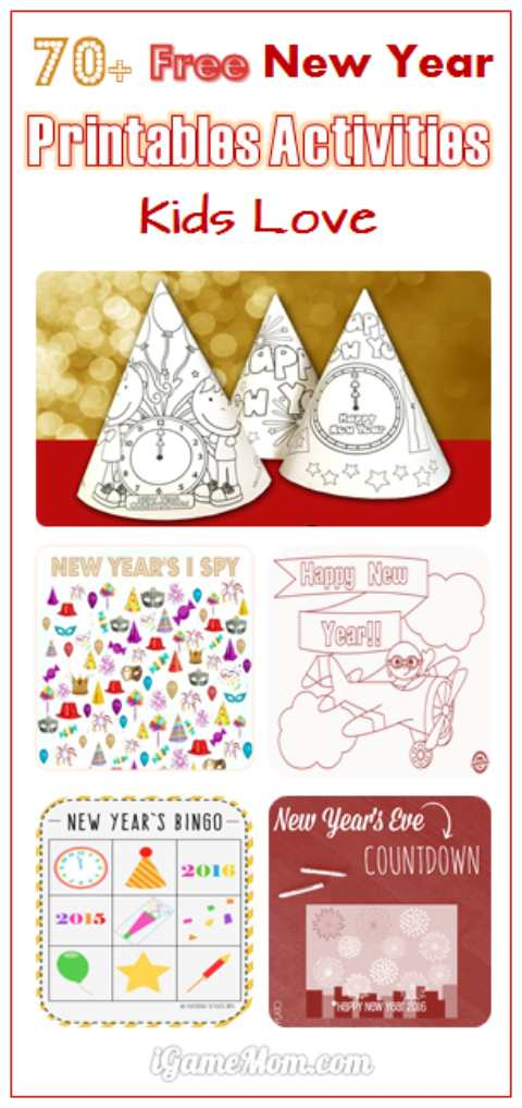 70 free new year printable activities for kids - Free Kids Printable Activities