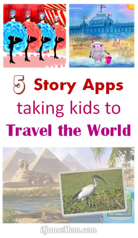 story apps for kids to travel the world on iPad at home