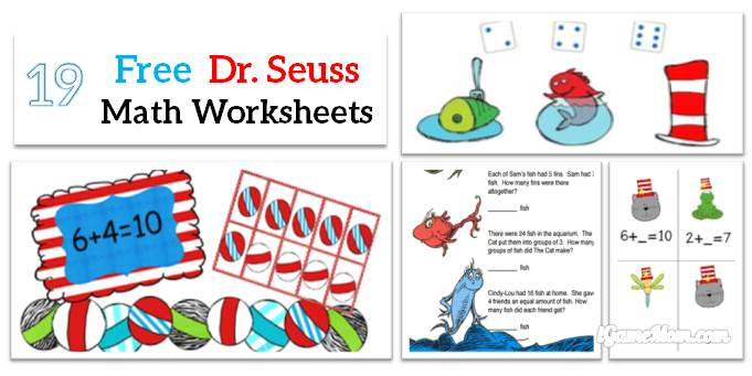 Free Dr Seuss Math Printable Worksheets for Kids – Free Math Worksheet Printables