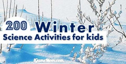 Winter science activities for kids