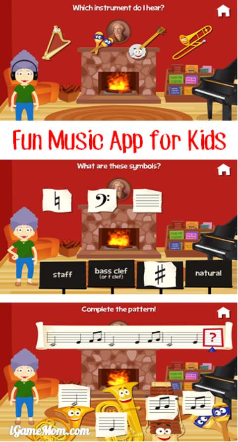 fun music app for kids teaching kids fundamental music - Music with Grandma