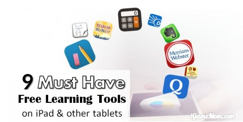 must have free learning tools for kids on iPad and other tablets