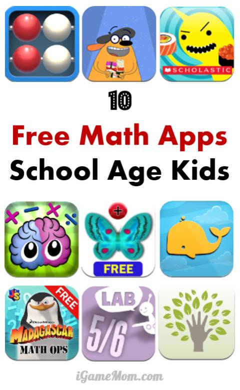 10 Free Math Apps for Elementary School Kids - fun math games, engaging math lessons making math learning enjoyable for kids. Great STEM teaching resource for teachers