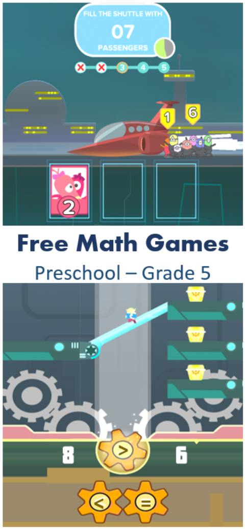 free math game app for kids preschool grade 5