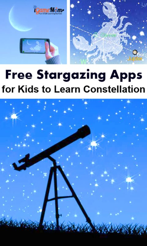 Free interactive stargazing apps for kids to learn stars and planets in the sky. Great astronomy apps for kids to make outdoor science exploration fun!