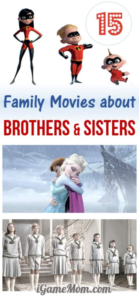 Sibling rivalry at home? Try these 15 kids movies about brothers and sisters, and enjoy a loving family night with a movie that even the youngest child can enjoy.