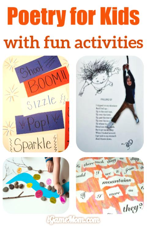 Teaching kids poetry with fun activities.