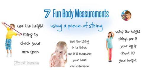 body measurement - hands on non standard measurement math